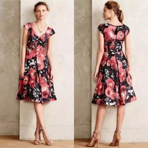 Tracy Reese Frock Dress Paintbrush Floral